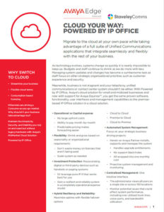 AVAYA CLOUD Fact Sheet