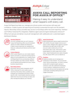 AVAYA ACR Call Logging
